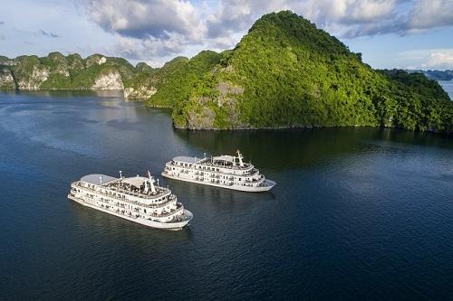 Tổng chí phí hơn 6 tỷ đồng bao trọn gói 2 du thuyền Paradise Elegance cho 130 khách mời. Mỗi du thuyền bao gồm 31 phòng hạng sang, nhà hàng, lounge, bar, sân thượng ... tiện nghi như một khách sạn nổi.