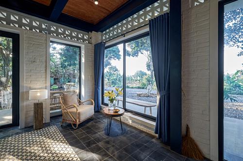 Một nhà nghỉ cuối tuần nằm giữa vườn vảiở Lương Sơn, Hòa Bình. Ảnh:Nguyễn Tiến Thành.