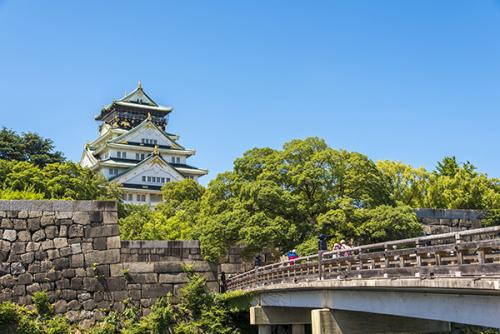 Vẻ đẹp của lâu đài Osaka.