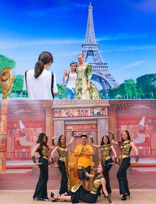 Bên cạnhhòavào không khí lễ hội từ hàng chục nền văn hóakhác biệt, bạn còn được thoả thích check-in nhiều cảnh đẹp thế giới và tham gia các hoạt động vui chơi đặc sắc trải, dài từ lễ hội châu Á tới châu Âu.