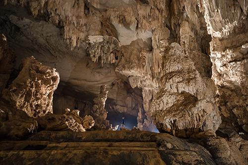 Hệ thống thạch nhũ trong hang Thiên Đường được công nhận đạt kỷ lục châu Á. Ảnh: Ryan
