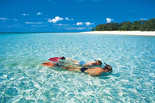 Đảo Heron (Queensland), nơi có những rạn san hô nhiều màu sắc và đây cũng là nơi sinh sống của số lượng lớn loài rùa ở Australia. Ảnh: Queensland.