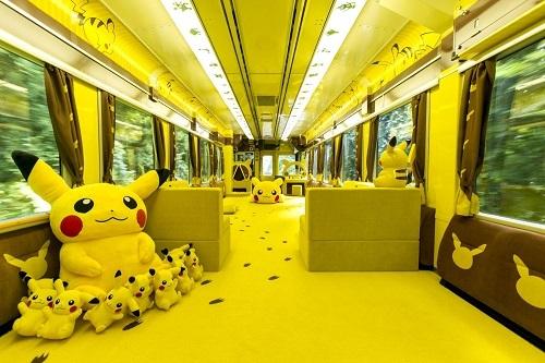 Pokemon With you ( chuyến tàu Pokemon vui nhộn)Tàu POKEMON with YOU được thiết kế với mục đích tốt đẹp là mang lại nụ cười cho trẻ em trong khu vực bị tàn phá bởi trận động đất và sóng thần Tohoku năm 2011 và tạo điểm nhấn cho du lịch vùng Tohoku. Bên trong tàu là được trang trí theo chủ đề Pikachu với chú Pikachu nhồi bông lớn nhỏ và 1 khu vui chơi cho trẻ em. Tàu chỉ có 46 chỗ ngồi và chỉ áp dụng cho việc đặt trước, nên nếu muốn trải nghiệm tàu Pokemon with you, du khách cần phải lên kế hoạch sớm cho chuyến đi.