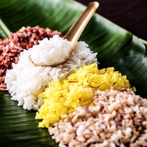 Saffron được kết hợp với 4 loại gạo tạo nên một món ăn truyền thống Thái tốt cho sức khỏe