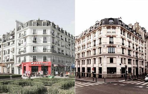 Sự giống nhau giữa hai thành phố (Paris bên phải, Tianducheng bên trái) - 1