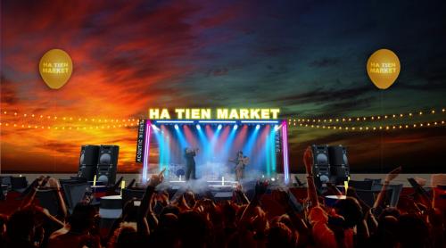 Giai đoạn đầu của chợ đêm có khoảng 500 gian hàng mua sắm kết hợp vui chơi giải trí. Ảnh: Công ty C&T.