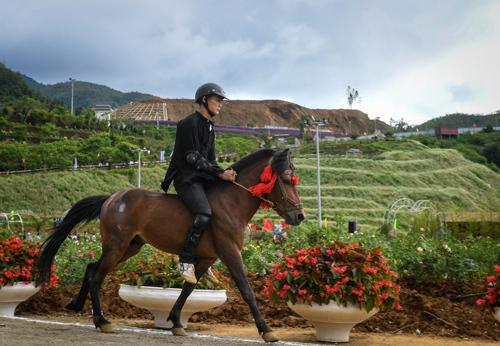 Đường đua vó ngựa trên mây tại Fansipan. Ảnh: Nam Nguyễn.
