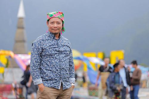 Phù thủy sân khấu Phạm Hoàng Nam - người đã đặt cả tâm huyết để dàn dựng show diễn Vũ điệu trên mây đậm chất nghệ thuật. Ảnh: Quốc Nguyễn.