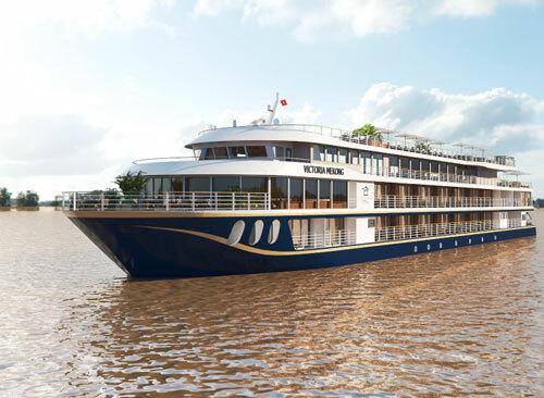Victoria Mekong là một trong những du thuyền cao cấp đầu tiên đăng ký hoạt động trong nước và khai thác tuyến du lịch quốc tế. Ảnh:Victoria Mekong Cruises.