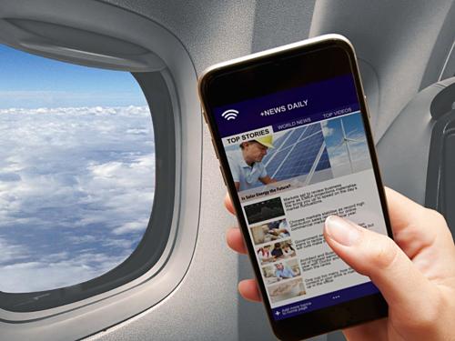 Nhiều hành khách muốn cập nhật tin tức trên máy bay. Ảnh:Science ABC.