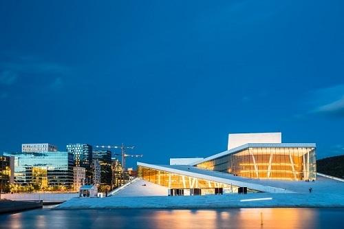 Tòa nhà Oslo Opera là một trong những điểm nhấn của Na Uy. Ảnh: Tugo.