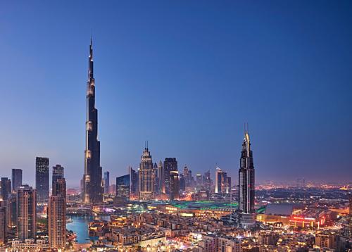 Trước khi khánh thành, tòa nhà này còn có tên gọi làBurj Dubai. Ảnh: Burj Khalifa.