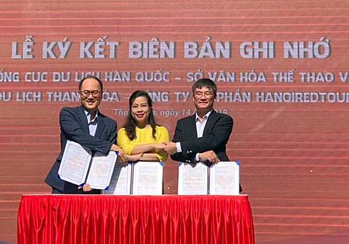 Biên bản ghi nhớ là tiền đề để thúc đẩy khách du lịch hai chiều giữa Hàn Quốc và Thanh Hoá.