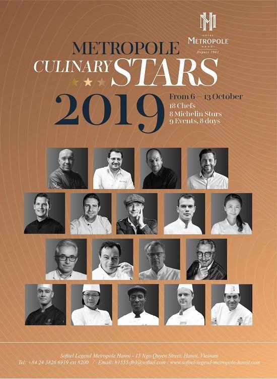 18 đầu bếp nổi tiếng thế giới sẽ tham dự tuần lễ ẩm thực Metropole Culinary Stars.