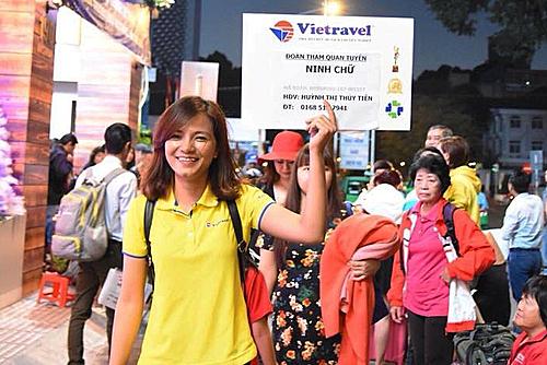 Thuỷ Tiên hiện là HDV chuyên đi tour nội địa.
