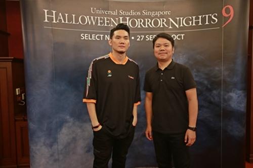 Hai đạo diễn phim kinh dị nổi tiếng người Thái Lan - Gunn Purijitpanya (trái) và Parkpoom Wongpoom..