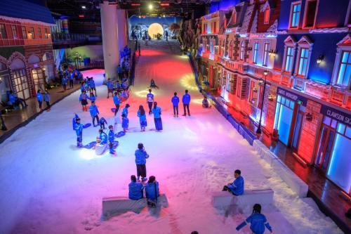 Qua đợt sửa chữa, khu vực tuyết sẽ được tăng thêm 200m2 diện tích vui chơi sau khi di dời một số hạng mục trang trí cũ.