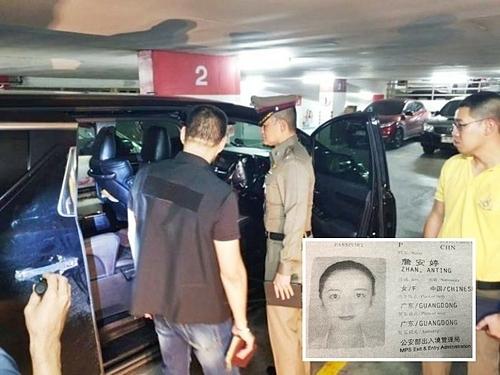 Chiếc xe nơi xảy ra tai nạn. Ảnh: ChiangRai Times.
