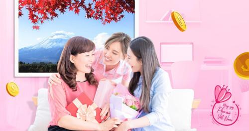 Phái đẹp có cơ hội được tặng tiền khi mua tour tại Sông Hàn Tourist.