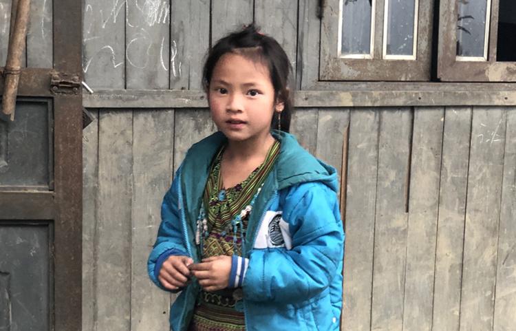 Một học sinh trường tiểu học Thanh Kim.