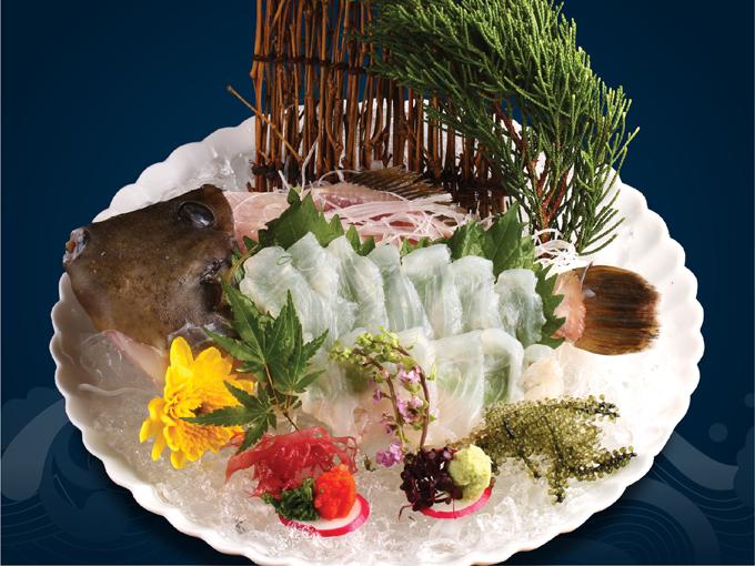 Với hàm lượng chất béo cá cao, Kawahagi Sashimi là món ăn ngon trongmùa đông Nhật Bản.