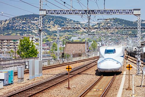 Chụp ảnh ở đường tàu có thể gây ra tai nạn. Ảnh: Kyoto Travel.