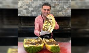 Thạch dưa hấu khổng lồ của đầu bếp Thổ Nhĩ Kỳ