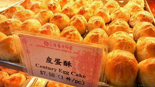 Món bánh trứng bắc thảo chiên giòn ở nhà hàng dimsum Hang Heung. Ảnh: Chan Sin Yan.