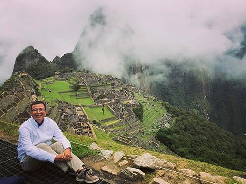 Anh Tấn Đức tại Machu Pichu.