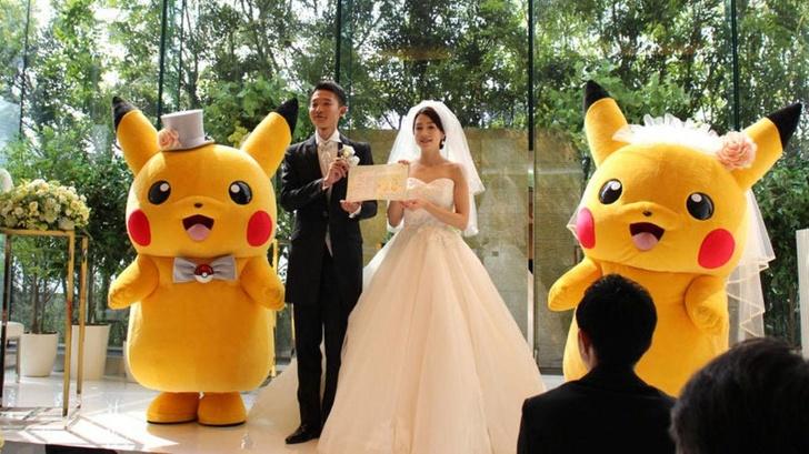 Một đám cưới với sự tham gia của chú Pikachu. Ảnh:Brightside.