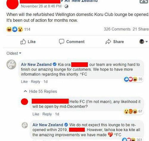 Câu hỏi của người khách hàng không nhận được sự đồng tình của các khách hàng khác. Nhiều người cho rằng lời nói đùa này không hề duyên dáng, vì nó gợi đến sự phân biệt chủng tộc. Ảnh: Facebook.