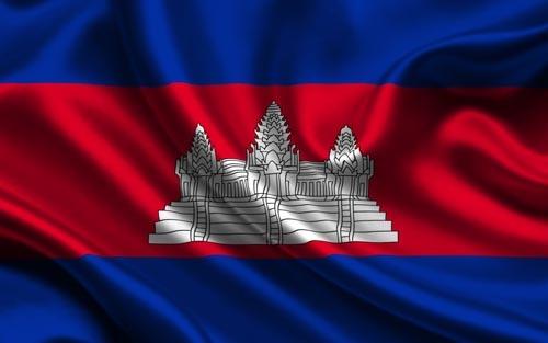 Cờ Campuchia được coi là một trong những lá cờ độc đáo trên thế giới. Ảnh: Elevenews.