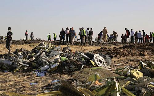 Chuyến bay mang số hiệu ET302 lao xuống một cánh đồng với tốc độ hơn 1.000 km/h, toàn bộ 157 hành khách và thành viên tổ bay thiệt mạng. Ảnh:VCG.