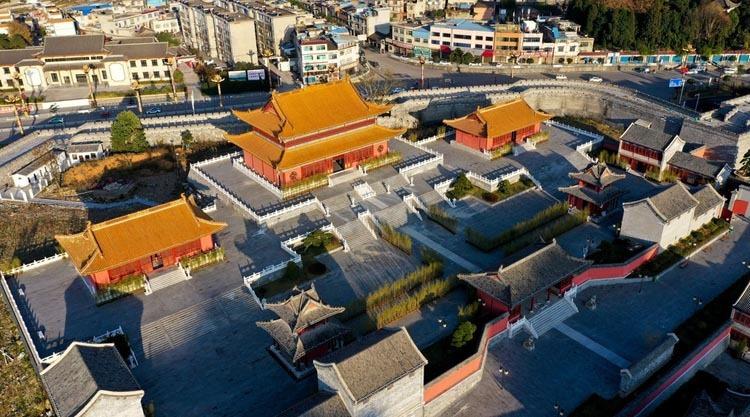 Tử Cấm Thành nhái ở Quý Châu không một bóng người. Ảnh: Imagine China.