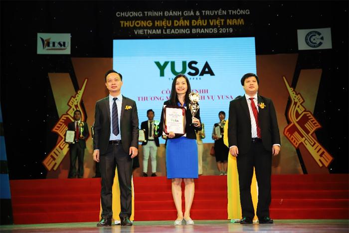 Ngày 15/12, YUSA đã nhận giải thưởng Top 50 thương hiệu dẫn đầu Việt Nam 2019 do Viện nghiên cứu kinh tế châu Á và Liên hiệp Khoa học Phát triển Doanh nghiệp Việt Nam tổ chức. Giải thưởng vinh danh các doanh nghiệp xuất sắc trong nhiều lĩnh vực, ngành nghề được người tiêu dùng tín nhiệm.