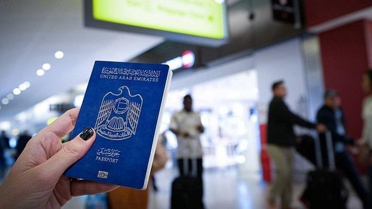 Hộ chiếu UAE. Ảnh:Alamy.