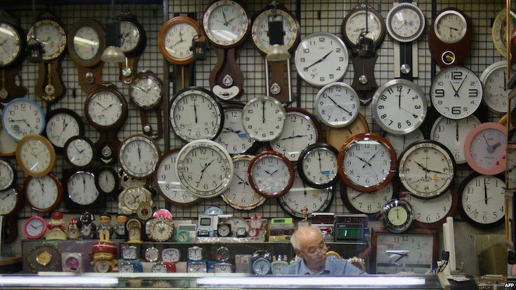 Năm tháng trôi qua, múi giờ của thế giới đã phức tạp hơn rất nhiều. Ảnh:AFP.