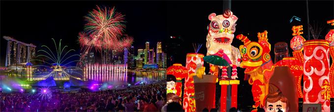 Các lễ hội đường phố Bazaar cũng mở cửa từ ngày 3 đến ngày 24/1/2020 với không gian chợ đêm và hàng loạt gian hàng cho du khách mua vật phẩm trang trí, hoa, phong bì và những món ăn đặc sản. Đặc biệt, từ ngày 23/1 đến ngày 1/2/2020, lễ hội chào đón Tết Nguyên đán thường niên River HongBao sẽ quay trở lại với không khí vui tươi cùng những màn pháo hoa rực rỡ dọc bờ sông tại The Float @ Marina Bay.