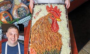 Pizza như tranh vẽ khách không nỡ ăn
