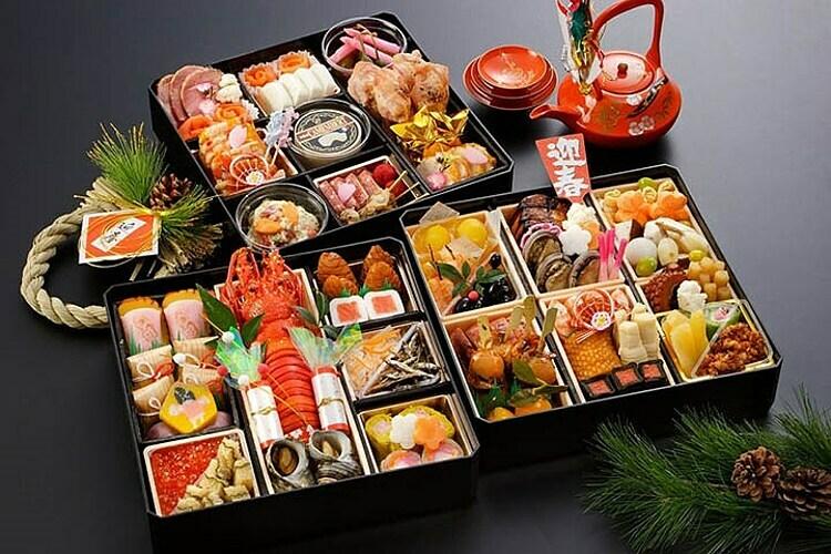 Những món ăn dành cho ngày tết ở Nhật Bản gọi là Osechi. Ảnh: Hải Yến.