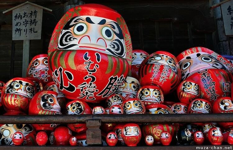 Búp bê Daruma bán trong đền Shorinzan Darumaji ở thành phốTakasaki, Nhật Bản. Ngày nay, phần lớn búp bê Daruma vẫn được sản xuất tại thành phố này, nơi cách Tokyo khoảng 1 giờ 30 phút đi xe.Ảnh: Muza-chan.