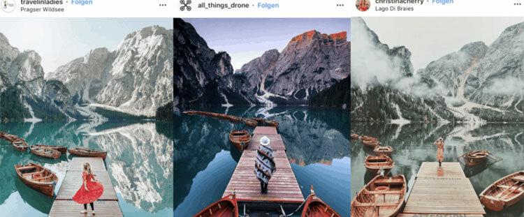 Nhờ Instagram, các địa điểm du lịch được nhiều người biết đến hơn. Ảnh: Instagram.