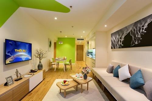 Căn hộ Hill Suite có diện tích khoảng 100 m2.