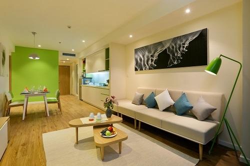 Căn hộ Ocean Suite có diện tích khoảng 108 m2.