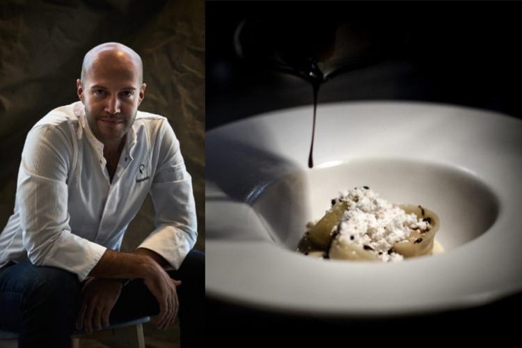 La Cortina làmón ăn đặt tên theo căn phòng mà đầu bếp đã được truyền cảm hứng. Nó bao gồm agnolotti (một loại mì ống của Italy) nhân nhồi bí ngô, thơm phức mùi vanilla và amaretto (rượu được làm từ nhân của hạt mơ hoặc hạnh nhân) vàgiấm balsamic 25 năm tuổi. Ảnh: Predulio.