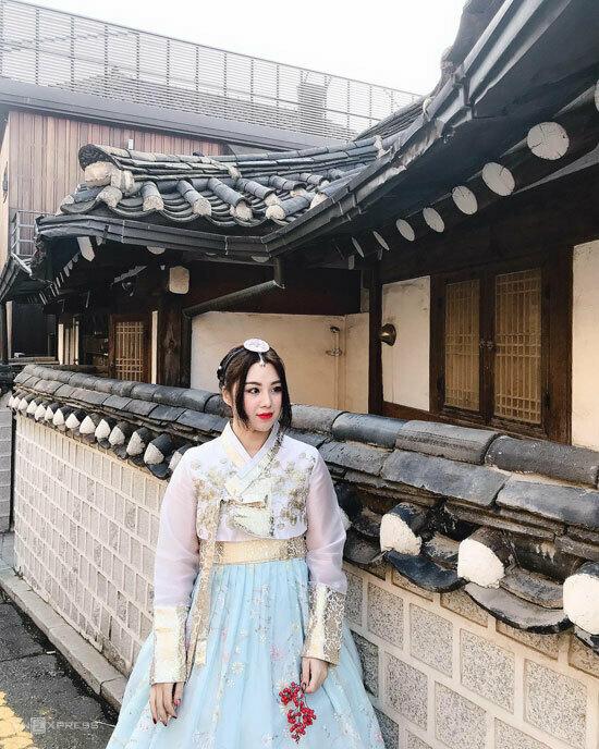 Ngọc Diệp đã đi gần hết các nước ở châu Á. Cô cho biết muốn đợi dịch bệnh được kiểm soát rồi mới đi du lịch tiếp. Trên ảnh là Ngọc Diệp trong chuyến tới Hàn Quốc hồi tháng 9/2019. Ảnh: Ngọc Diệp.