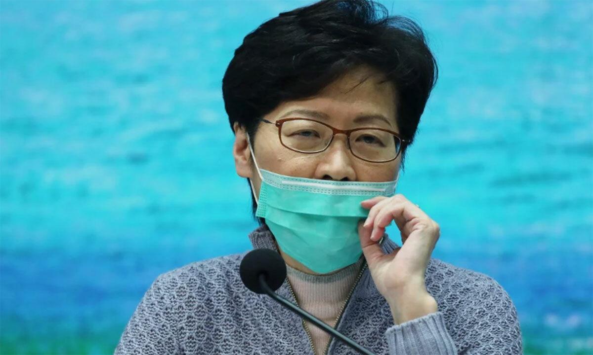 Bà Carrie Lam trong buổi họp báo chiều 23/3. Ảnh:Xiaomei Chen/SCMP.