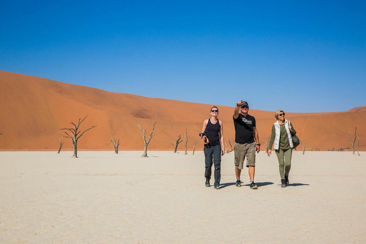 Nữ du khách MỹElaine Glusac đang bị thu hút bởi lời quảng cáo của một tour thăm safari 2 tuần ở Nam Phi và Namibia với giá chỉ gần 1.300 USD. Nhưng cô đã quyết định ở nhà và dành chuyến đi đó cho mùa thu, khi dịch bệnh đã được kiểm soát. Ảnh: G Adventures Inc.