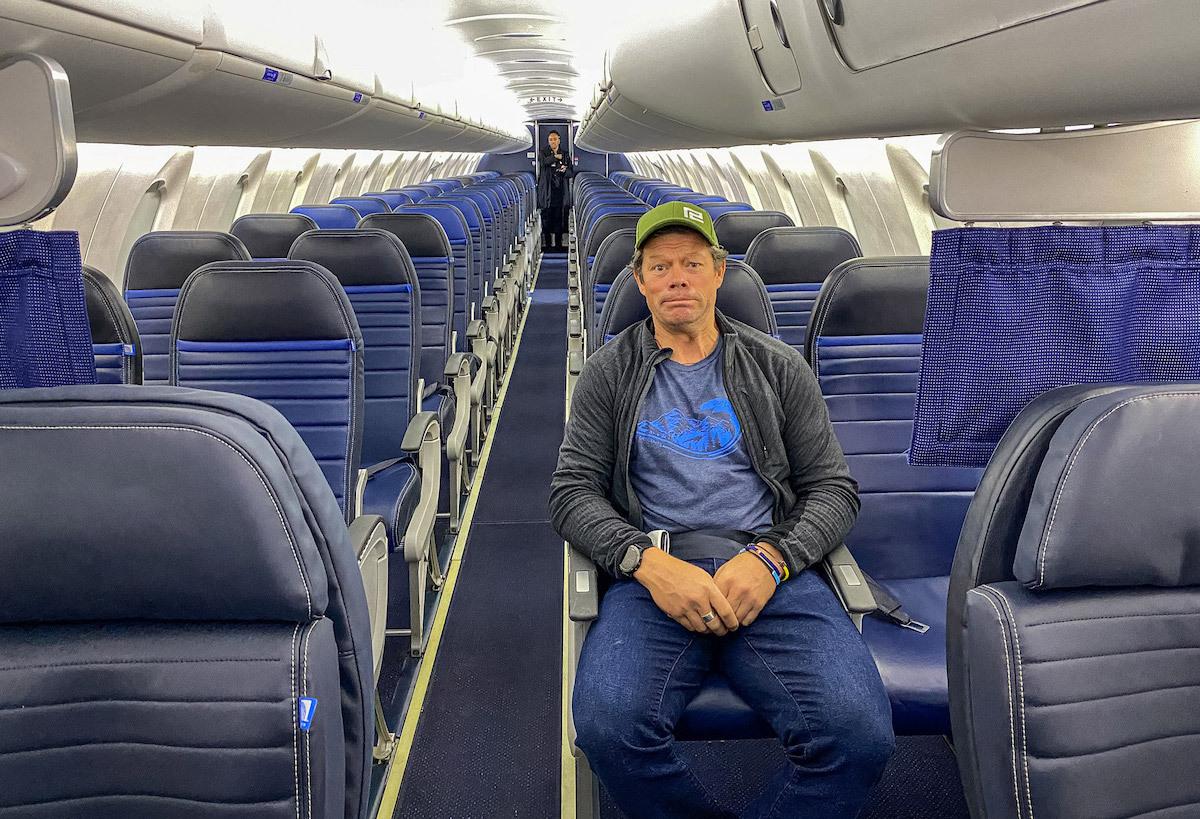 Pete McBride là hành khách duy nhất trên chuyến bay đến Colorado ngày 20/3. Ảnh:Pete Mc Bride.