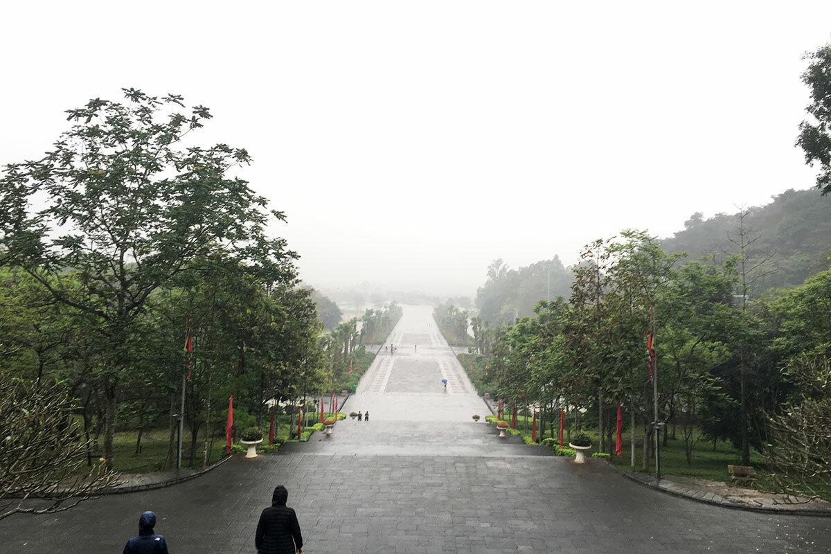 Quang cảnh lối vào khu di tích Đền Hùng (Phú Thọ) trong ngày chính lễ 10/3 âm lịch năm 2020. Ảnh: Lan Anh.